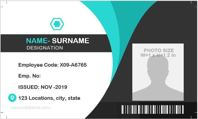 Free id card template