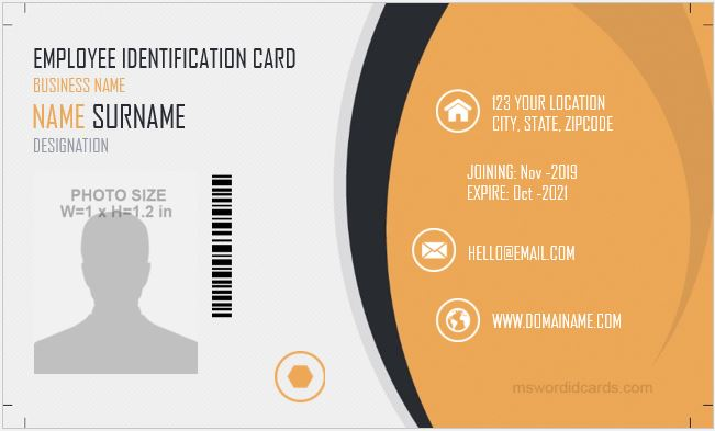 7 Free Id Badge Template Designs For Ms Word Microsoft