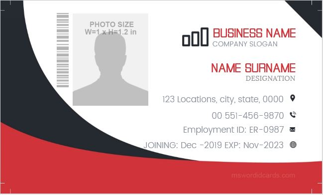 ID badge design sample