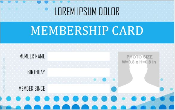 Membership id card sample