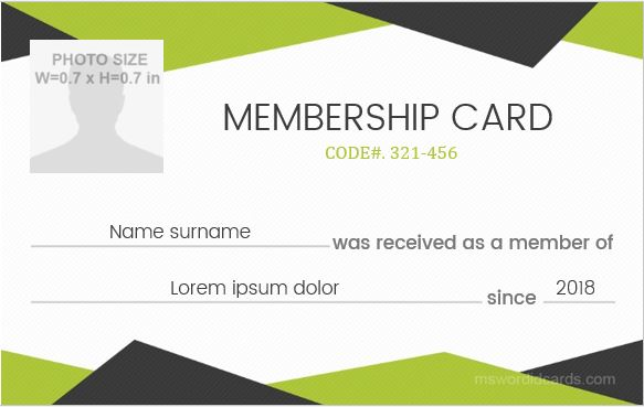 Membership id badge design