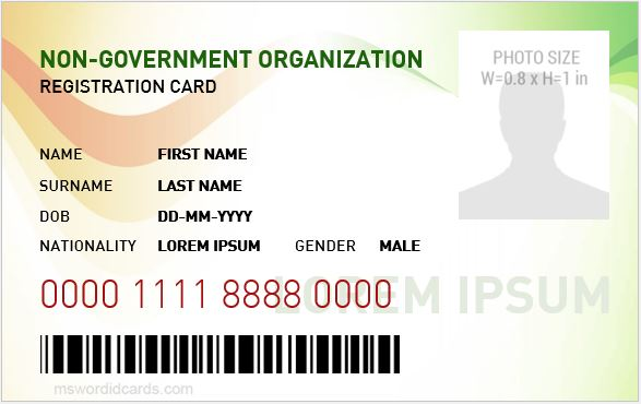NGO Employee ID Card