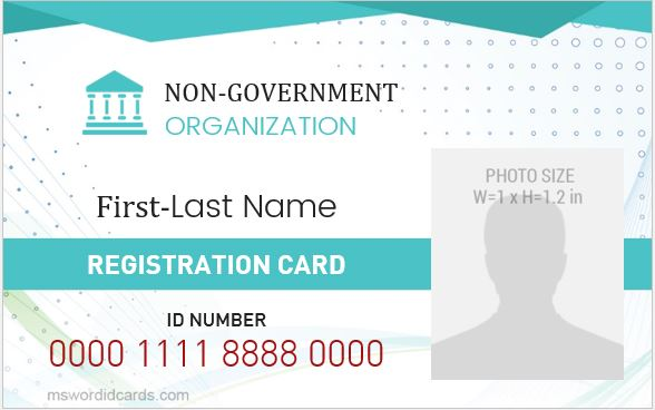 NGO ID Badge Template
