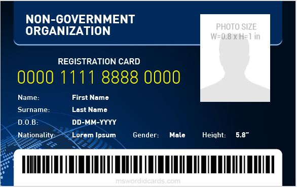 Non Government Organization ID Badge