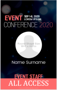 5 Best Event ID Badge Templates for MS Word | Microsoft Word ID Card