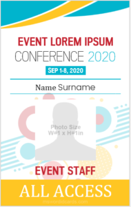 Event ID Card Template