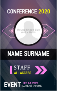 Id Badge Template for an Event