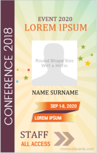 Event id badge template