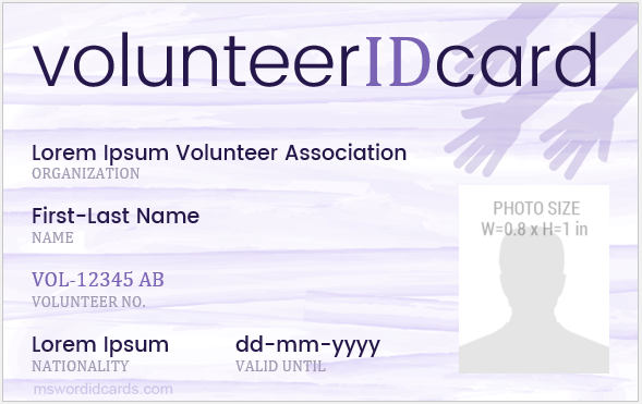 Volunteer id badges