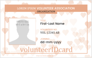 Volunteer ID Card Template