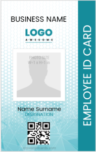 Vertical Design Employee ID Badge