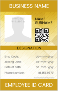 Vertical Design Employee ID Card