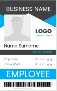 500 Horizontal Vertical Design Id Cards Microsoft Word