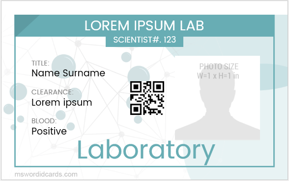 Laboratory ID Badge Template