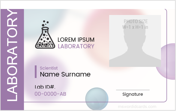 5 ms word laboratory employee id badge templates