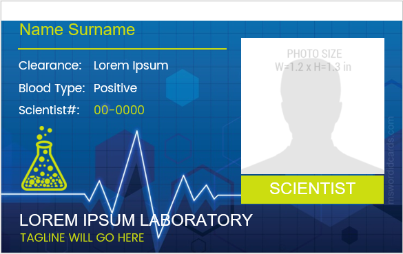 Laboratory ID Card Template