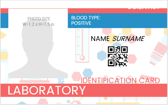 Laboratory Employee ID Badge