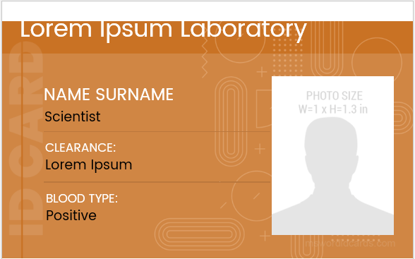 Laboratory ID Badge Format