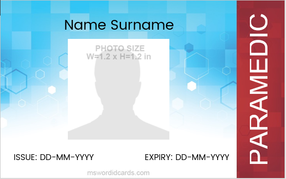 Paramedic ID Card Template