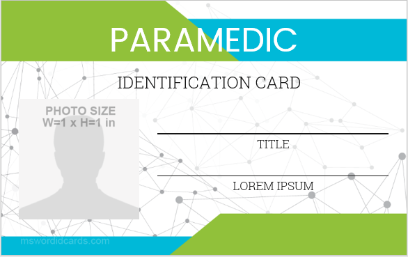 Paramedic staff id badge