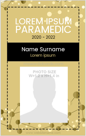 Paramedic Staff ID Badge Vertical Design