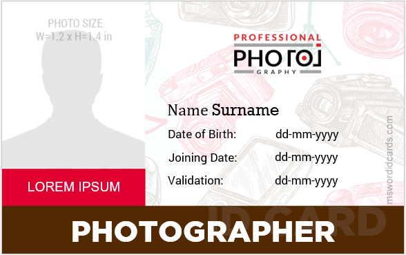 Photographer id badges
