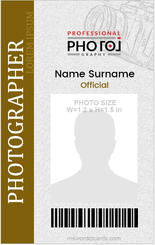 Photographer ID Card