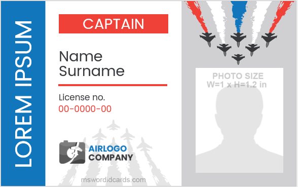 Pilot ID Card Template