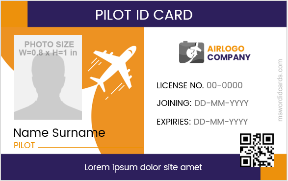 Pilot ID Badge Sample