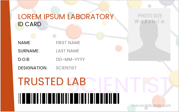 Scientist ID Badge Template