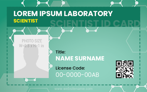Scientist ID Card Sample