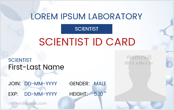 Scientist ID Badge Sample