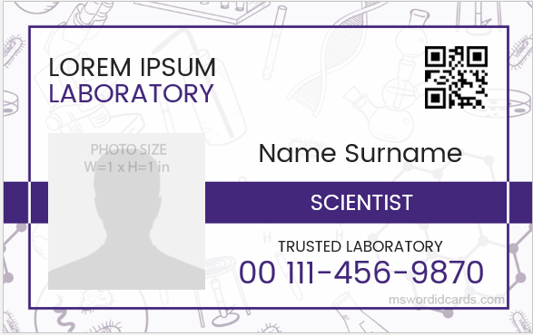 Scientist ID Card Format
