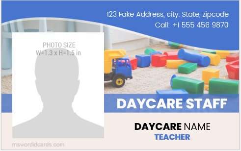 Daycare staff id card