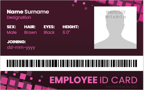 120 Company Employees Id Card Badge Templates Microsoft