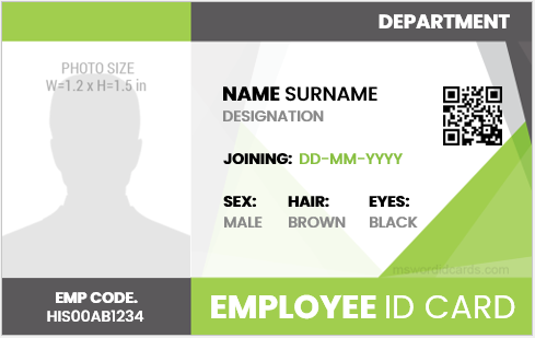 Company employee id badge sample