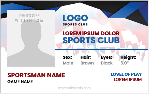 Sportsman id badges