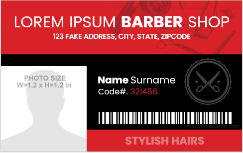 Barber ID Badges
