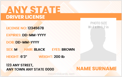 Drivers license cards