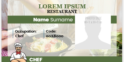 Chef ID card format