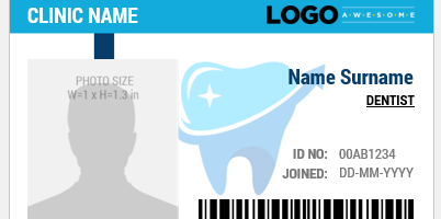 Sample Dentist ID Card