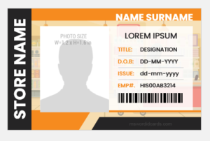 Departmental store employee id badge