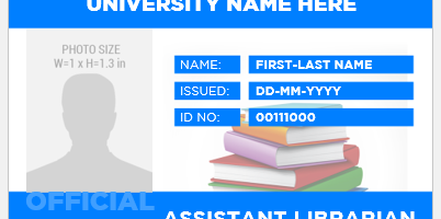 Librarian ID Badge Template