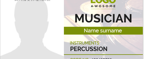 Musician id badge template