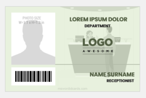 Receptionist ID Badge