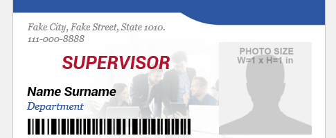 Supervisor ID badge format