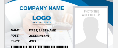 Accountant ID badge template