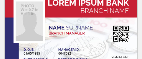 Bank manager id badge