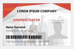 Office administrator ID card