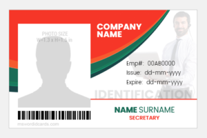 Secretary ID Badge Template